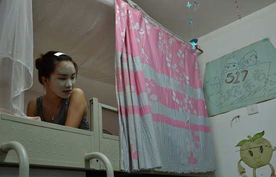 床位:广西大学组图拍摄女生宿舍生活获奖女生上海出租女生图片
