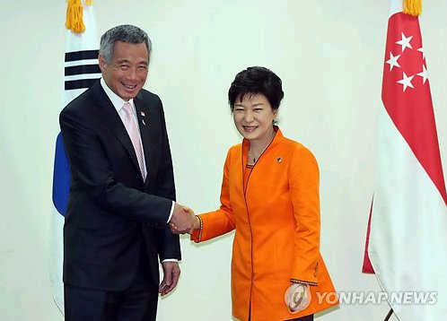 资料图片 朴槿惠总统将于11日与李显龙总理举行首脑会谈 ...