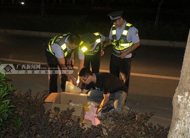 来宾一半岁女婴深夜遭遗弃路边 巡逻民警喂奶送医
