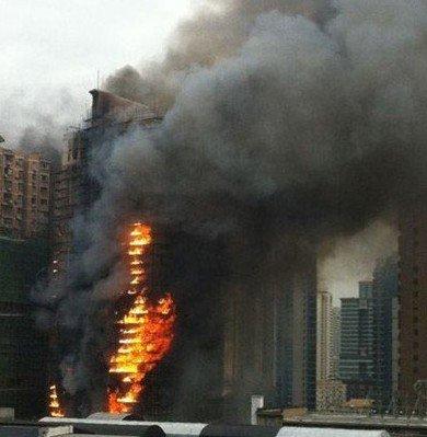 上海3000万政府资金改建的着火高楼