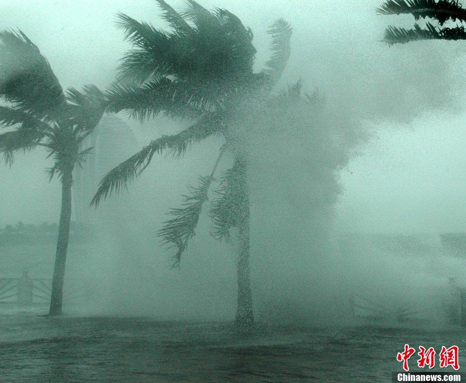 组图:强台风纳沙登陆海南