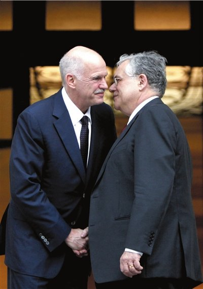 希腊新总理宣誓就职 分析称其难助希腊拜托危机