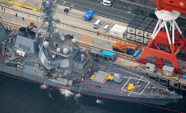 美海军中将:被撞美舰受损严重 需数月修复