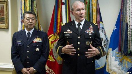 日本自卫队幕僚长同美太平洋司令商讨中日局势