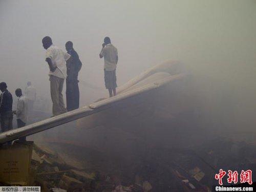 """尼日利亚寻获""""6.3""""空难中一具中国公民遗体"""