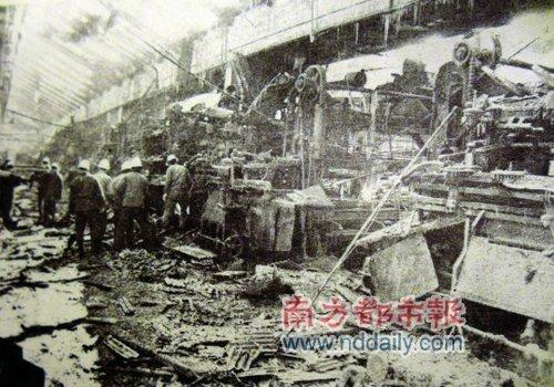 哈尔滨亚麻厂爆炸现场