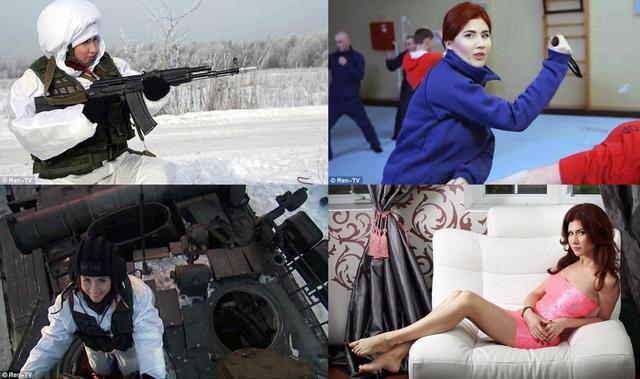 俄美女间谍探营坦克