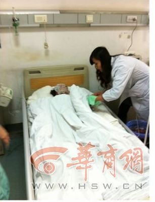 七岁女孩上学路上被炸 软组织挫伤体征平稳