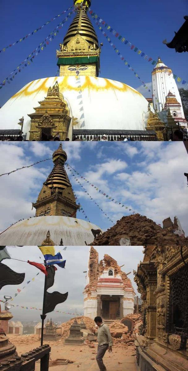 尼泊尔14座古建筑因地震被损毁 12座为世界遗产