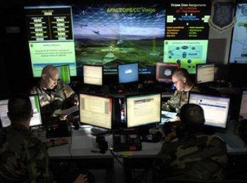美军网络战司令部内景