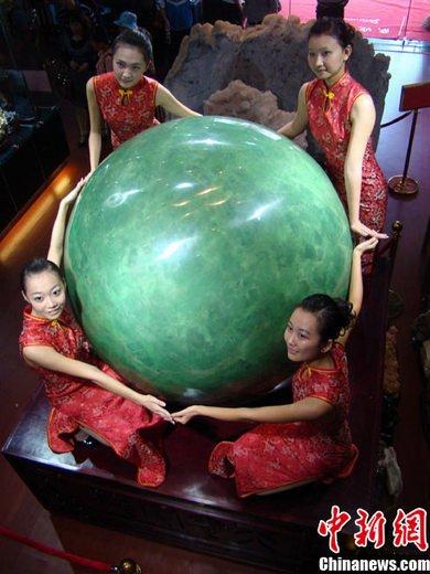 世界上最大夜明珠亮相海南文昌 价值22亿(图)