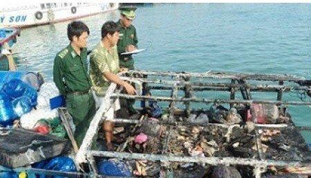 越南称其渔船在西沙遭中国舰船射击后起火