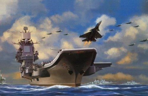 转:美媒:中国正造两艘航母 在研歼19舰载战轰机