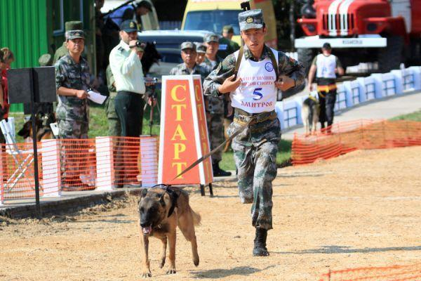 """军犬为中国赢得首个""""军事奥运""""团体冠军"""