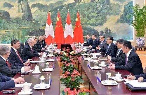 """谈到""""创新"""" 李克强与瑞士联邦主席相谈甚欢"""