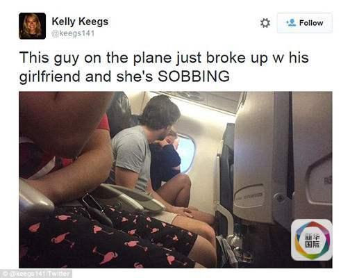 美情侣飞机上闹分手遭网友全程直播