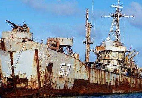 媒体称中国军舰巡航仁爱礁系阻止菲律宾建堡垒