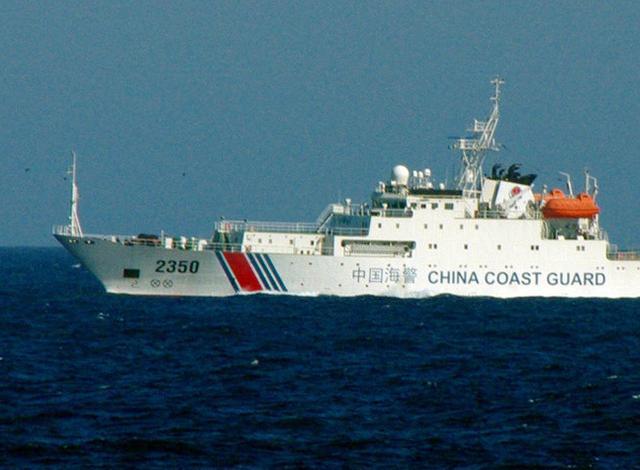 中国3艘海警船今日在钓鱼岛附近海域巡航
