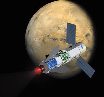 美国正研制核聚变火箭 30天内可往返火星(图)