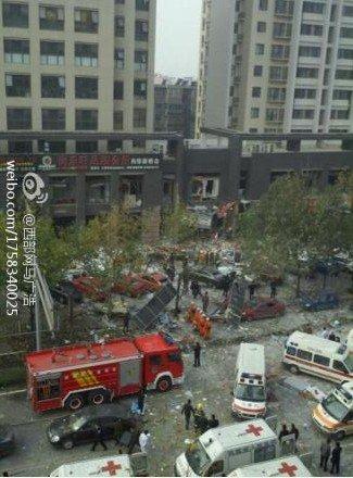 西安嘉天国际大厦门面房爆炸 医院急救已饱和