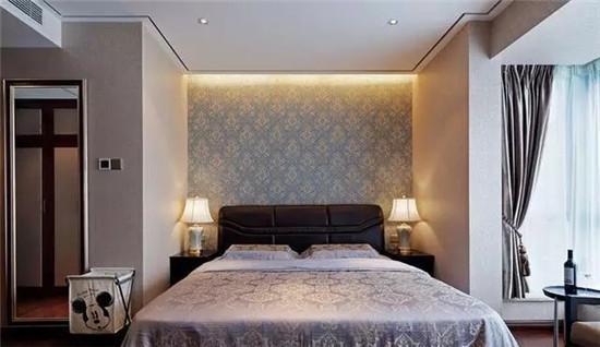 欧式卧室床头窗