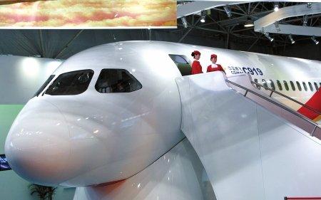 """C919大型客机珠海航展揭开神秘""""面纱""""(组图)"""