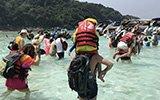 春节中国游客挤爆泰国潜水天堂斯米兰群岛