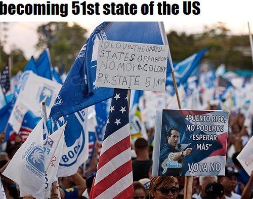"""波多黎各公投逾6成民众选择""""成美国第51州"""""""