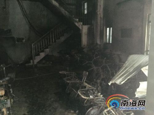 海口一出租房发生火灾一人死亡 现场疑似有爆炸
