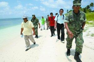 菲律宾5议员强登南沙中业岛 已被菲非法占40年
