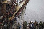 地震灾区降大雪 救援难度加大