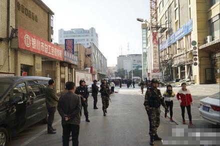 宁夏银川街头疑发生巨大爆炸 有人受伤(组图)