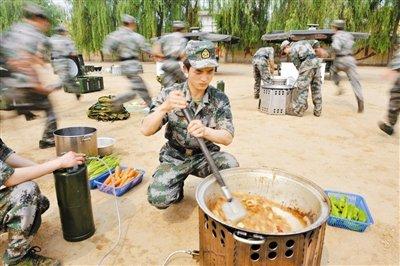 野战大锅菜制作已写入解放军军事训练考核新大