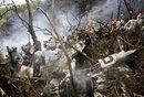 巴基斯坦失事飞机残骸照