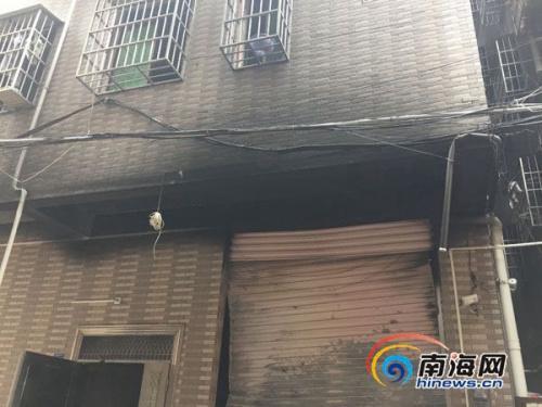 海口一出租房发生火灾一人死亡现场疑似有爆炸