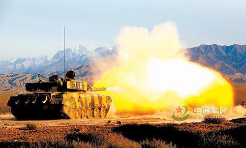 资料图:中国解放军陆军装备的96式改进型主战坦克-俄军总长称国产