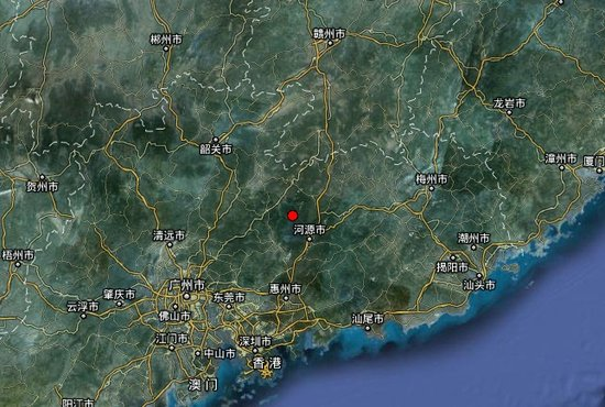 广东河源东源县发生4.8级地震 震源深度13 千米