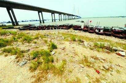 三峡大坝下三省出现严重旱情(组图)