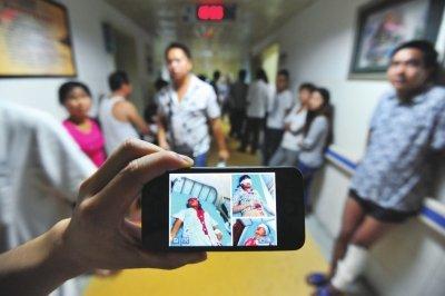高清图—男子湖南省中医研究院附属医院整容 对效果不满砍护士