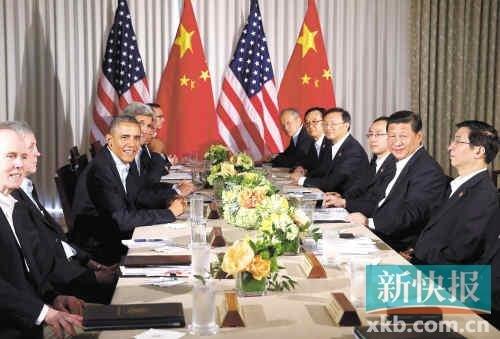 习近平会晤奥巴马:中美两国要互尊包容