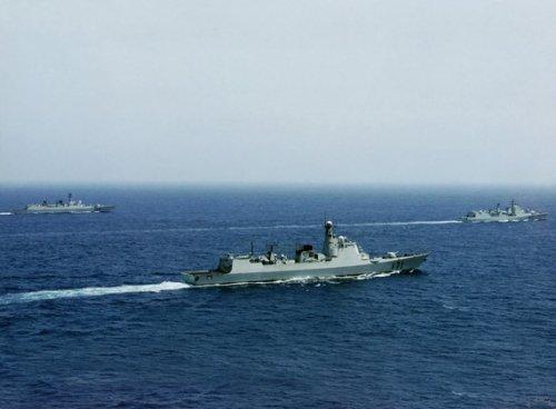 美智库:中国海军密集演习明显威慑邻国(图)