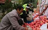 10吨苹果散落高速 40多人自发救助合力捡拾