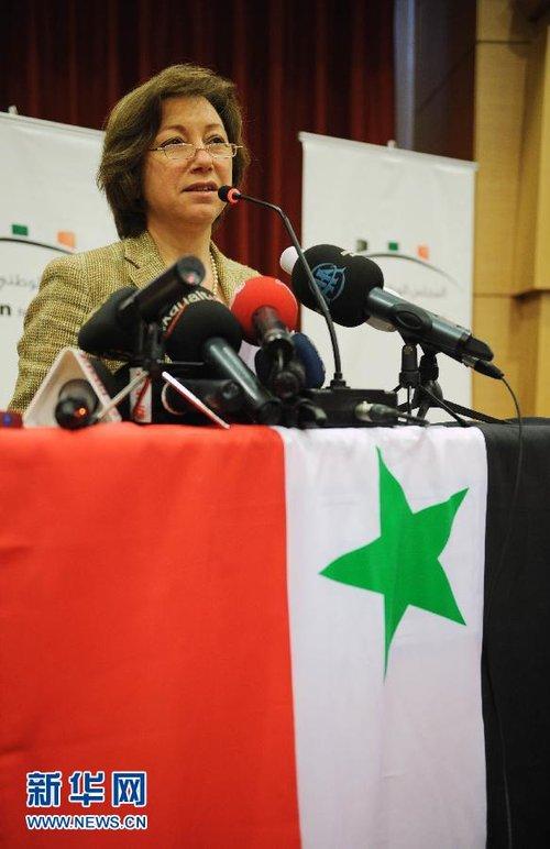 组图:叙利亚反对派全国委员会宣布成员名单