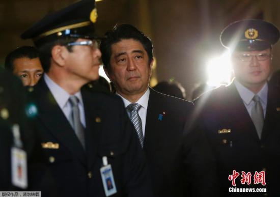 """安倍称日本和平宪法中条文""""不符时代""""需修改"""