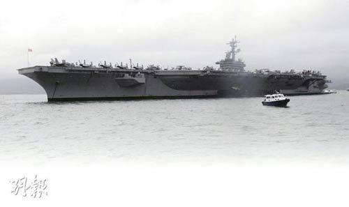 卡尔文森航母访港 7000水兵封口不提海葬拉登