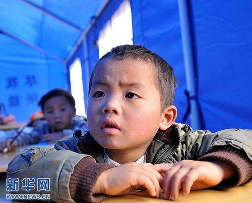 云南彝良地震灾区37所学校恢复上课(图)