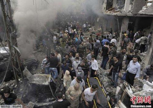 叙首都总统府附近发生多起爆炸 造成人员伤亡