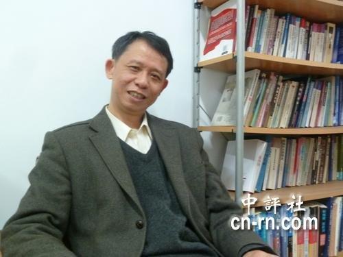 陈世民是战略学者与东亚区域安全专家。(中评社 邹丽泳摄)