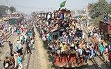 """孟加拉国穆斯林结束集会 """"挂""""满火车离开"""