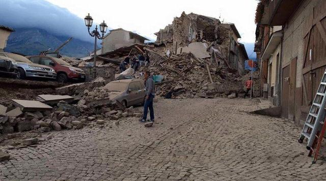意大利6.0级地震已致120人遇难 震区仍时有余震